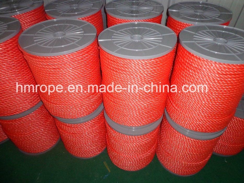 PP Splitfilm 3 Strands Twisted Rope Agriculture Packing Rope