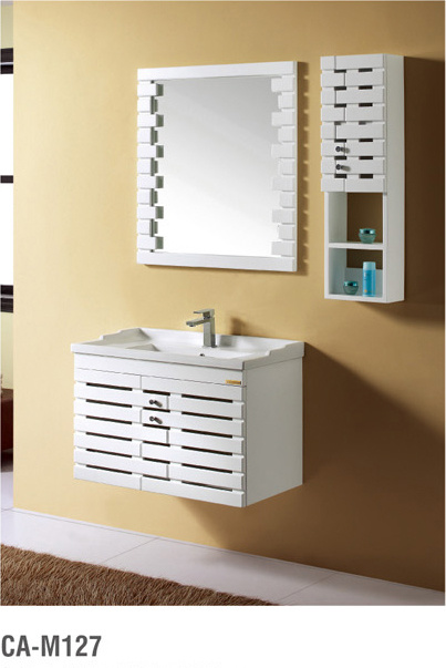 Modern Soild Wood Bathroom Furniture Cabainet with Basin
