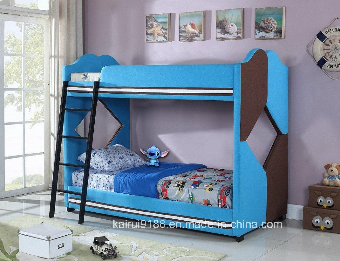 Children Bedroom Kids Blue Home Dormitory Bunk Bed