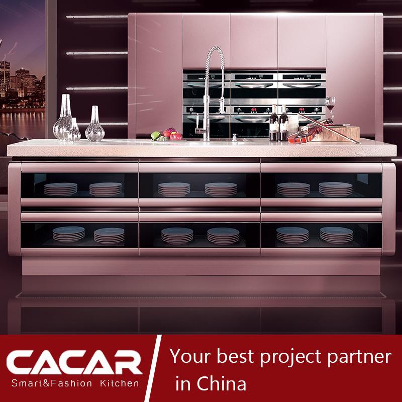 Wise & Fashion Space BMW Glitter Silver Lacquer Kitchen Cabinet (CA09-12)