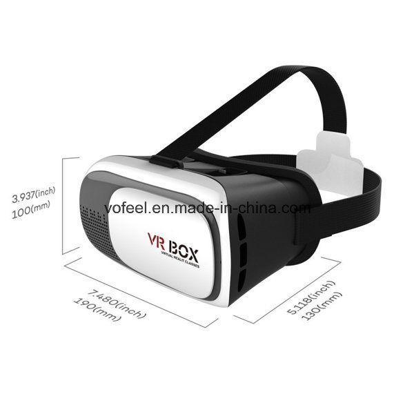 Cheap Virtual Reality Vr Box 3D Glasses for Blue Film Video Open Video