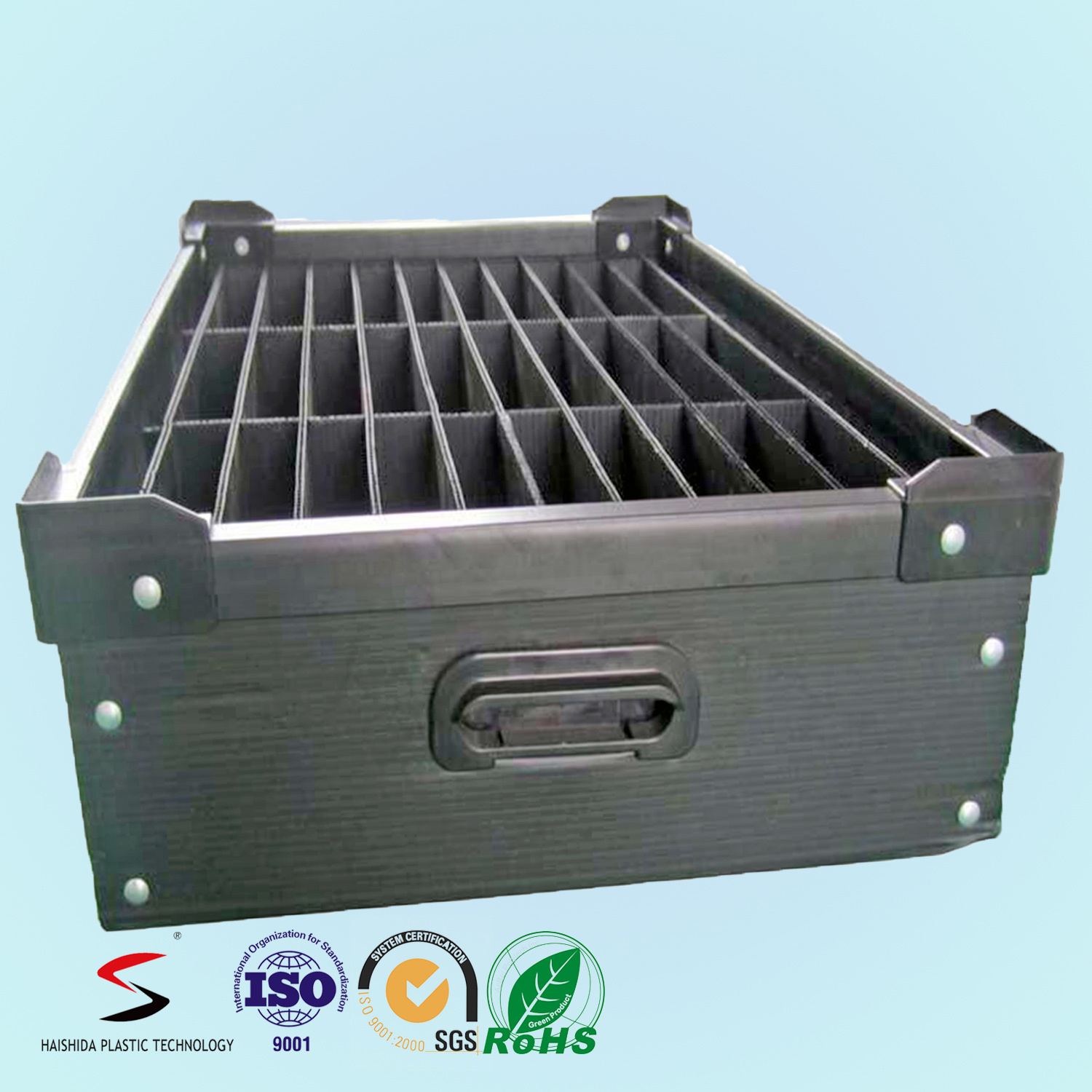 PP Turnover Plastic Box Color Corrugated Boxes with Separation