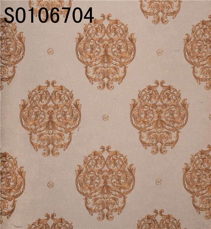 Italy Design Deep Embossed Vinyl Wallpaper (106CM*10M/15.6M SO106701)