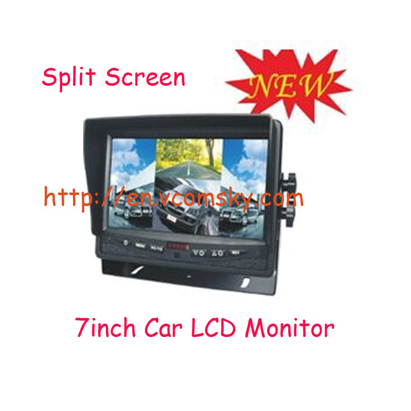 Quad 7CH Car LCD Dashboard Monitor and Truck Heavy Duty LCD for Car Monitor
