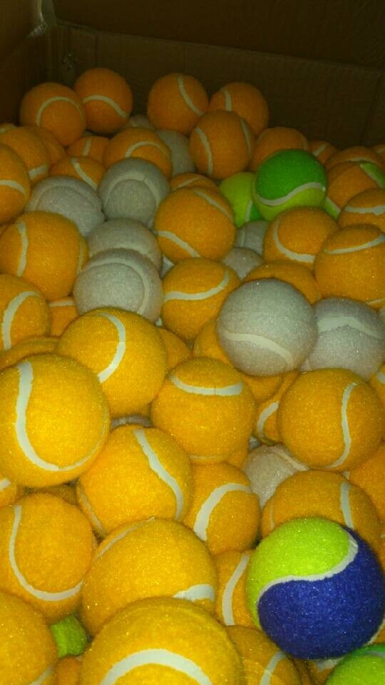 Hot Sale Cheapest Color Tennis Ball