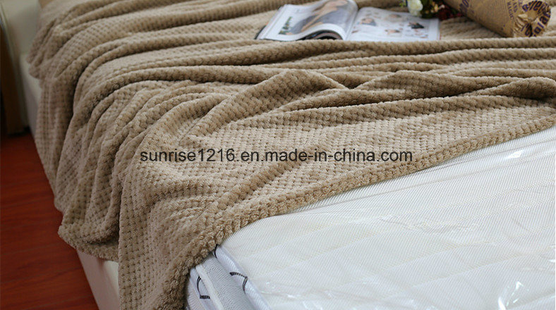 Warm and Light Coral Waffle Blanket Sr-B170211-2 Super Soft Blanket