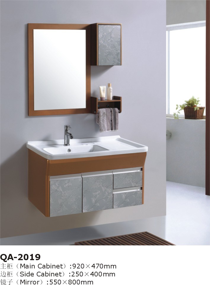 china wall mounted gray bathroom staff vanity cabinet set gbw055