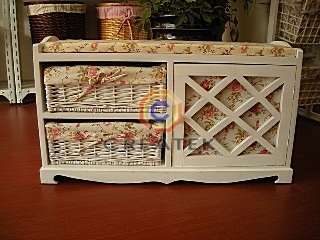 wickershelf.com-wicker wall corner cabinet bath shelf/shelves
