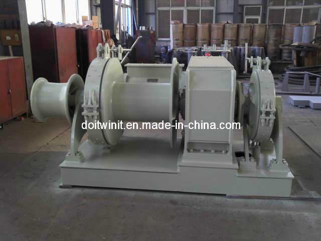 100kn Electric Combined Anchor Winch