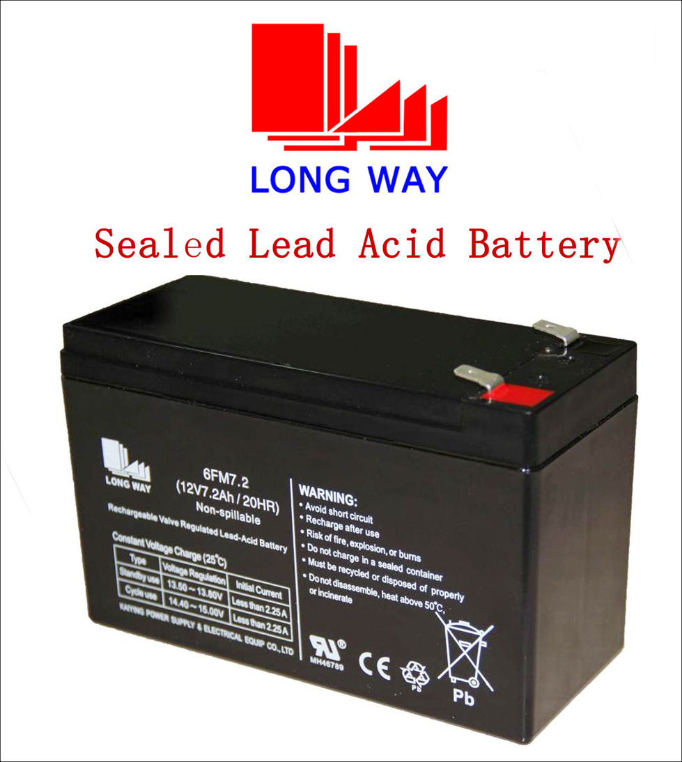 12V7ah/20hr Rechargeable Children Cars SLA Sealed Lead Acid Battery