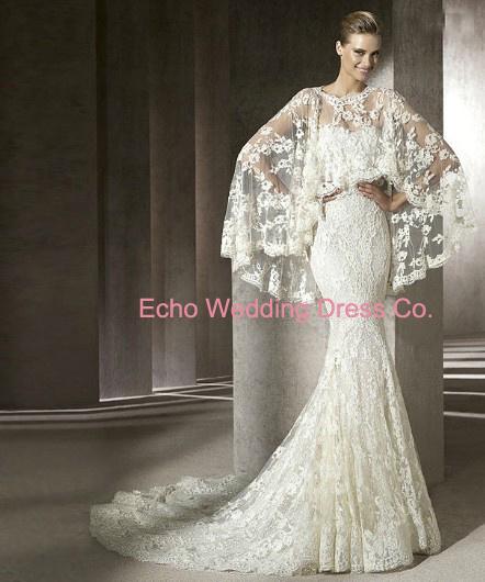 Elegant Lace Long Sleeve Wedding Dress WG144