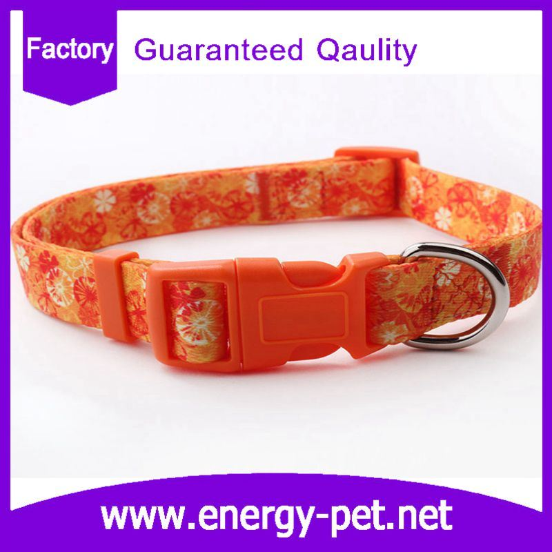 China Manufacturer Adjustable Polyester Braided Pattern Pet Collar
