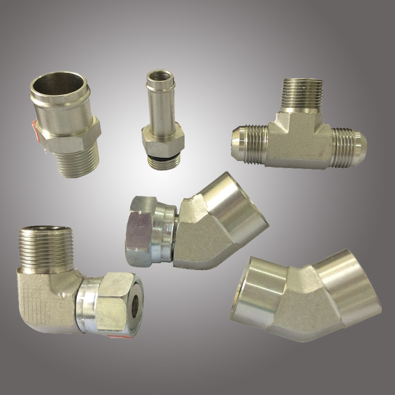 Hydraulic Straight, Elbow and T Type Fluid Connector