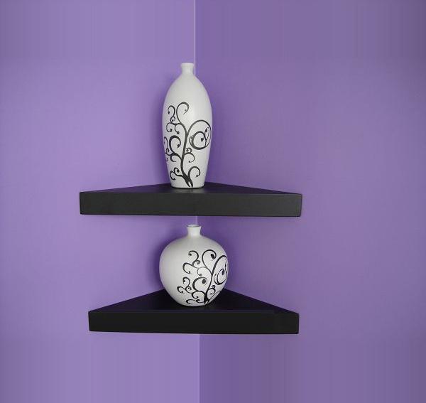 china mural white floating corner shelf txs020 china. Black Bedroom Furniture Sets. Home Design Ideas