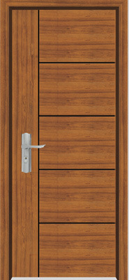 Solid Wooden Door (YFM-8005)