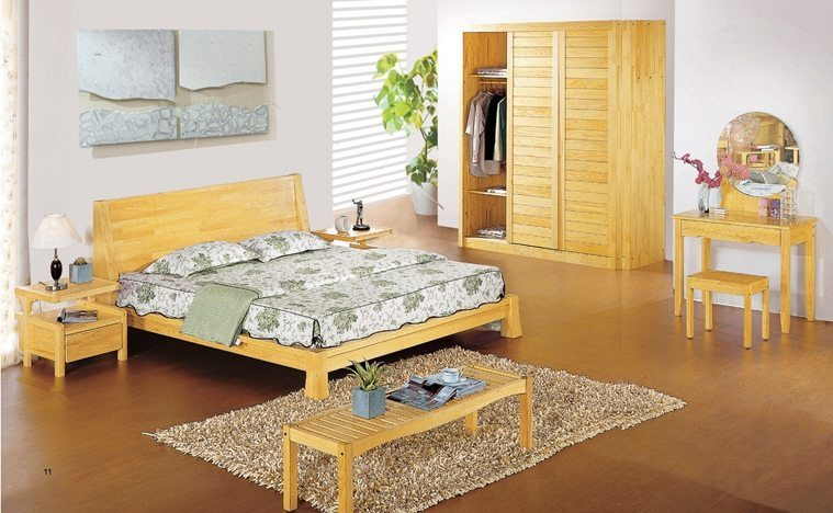 China aesthetic design pine wood bedroom set china - Pine wood furniture designs ...