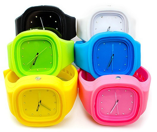 High Quality Interchangeable Japan Quartz Movement Silicone Jelly Watch