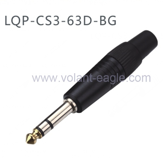 1/4 Inch Stereo Plug Microphone Cable Plug with RoHS
