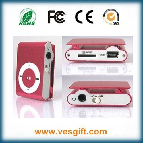 Customized Design Mini Clip MP3 Player