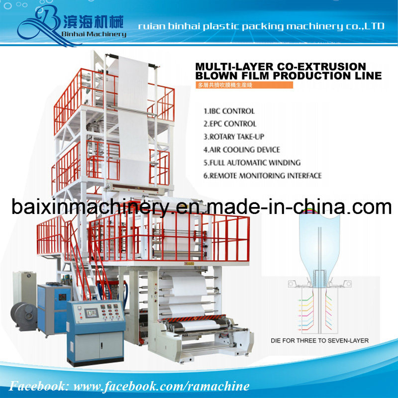 3000mm Multi- Layer Co- Extrusion Film Blowing Machine