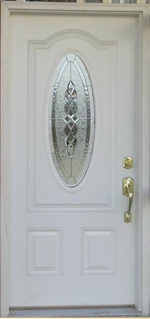 Luxury Exterior Fiberglass Fanlite Glass Door