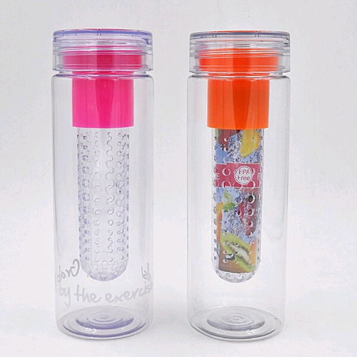 25oz tritan fruit infuser water bottle, plastic water bottle BPA free, tritan water bottle