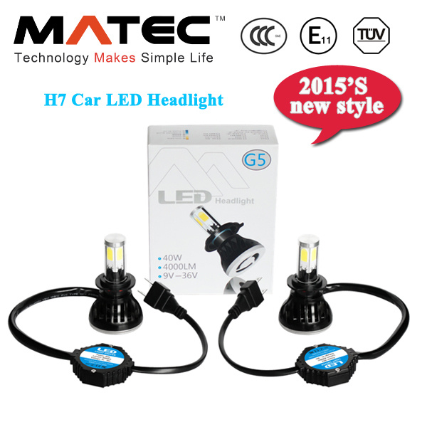 OEM Next Generation G5 8000lm H7 LED Auto Headlight Bulbs