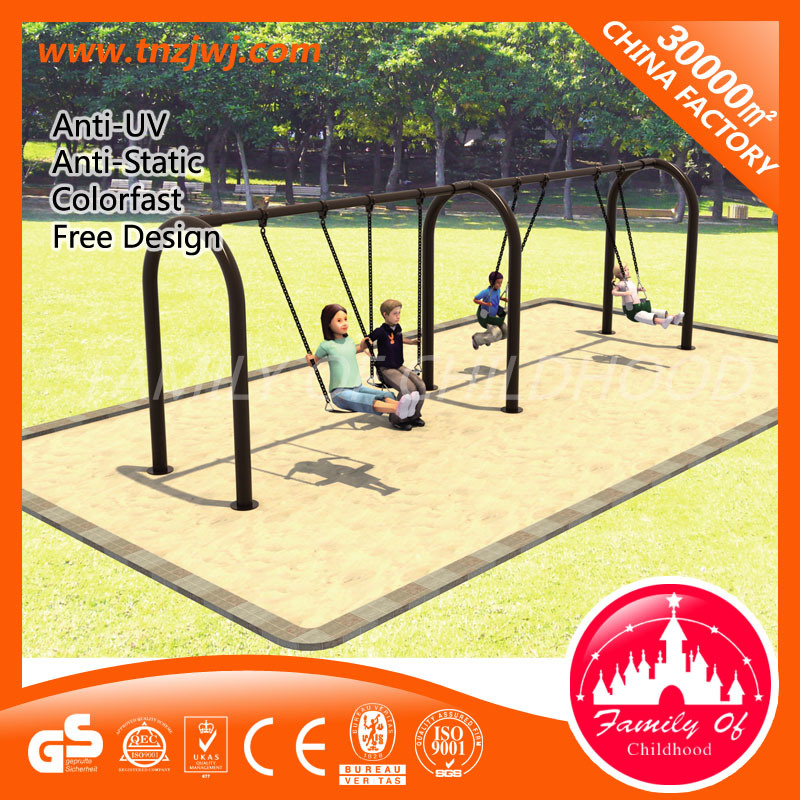 Kids Outdoor Garden Swing Metal Swing Sets with Slides