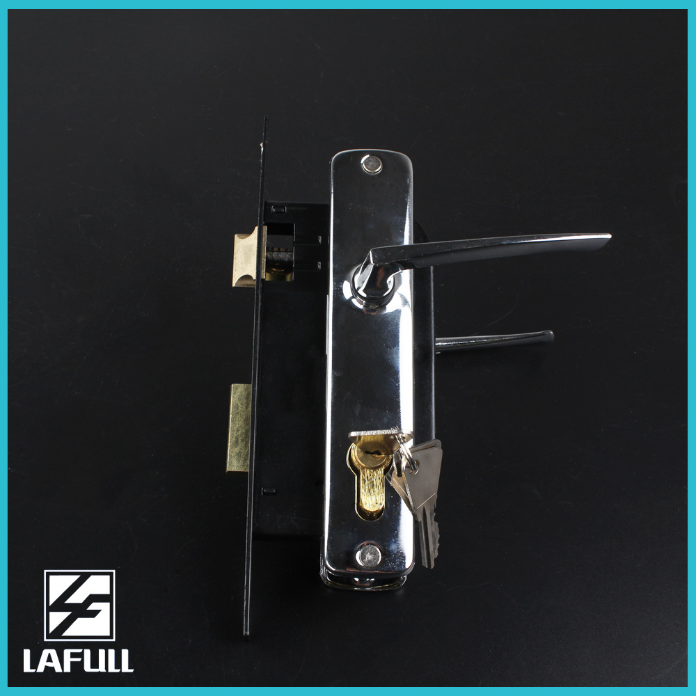 310 High Quality Zinc Alloy Cylinder Security Door Handle Lock