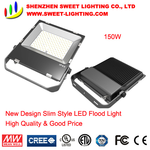 150W New Slim Top Quality LED Flood Light with 5 Years Warranty