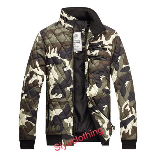 Men Camouflage Casual Fanshion Padding Winter Warm Coat Jackets (J-1606)