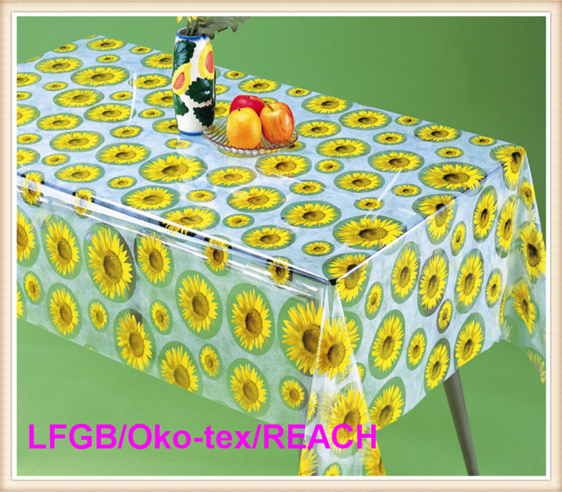 New Design PVC Transparent and Embossed Tablecloth Factory (TJ3D0004)
