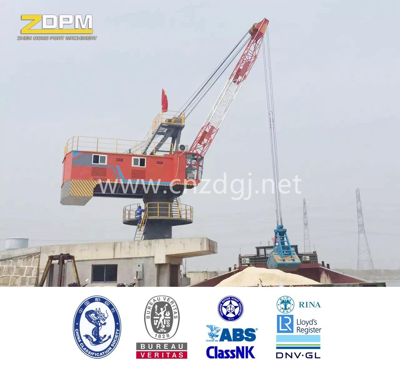 360degree Rotation Single Jib Portal Fixed Crane in Port for Loading