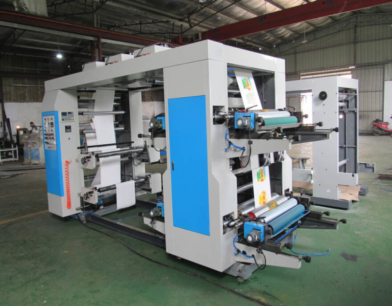 30′′ Four Colors Plastic Bag Film Flexographic Printing Machine