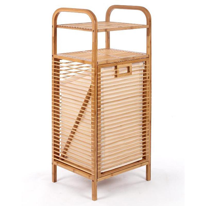 Bamboo Bathroom Standing Towel Bar