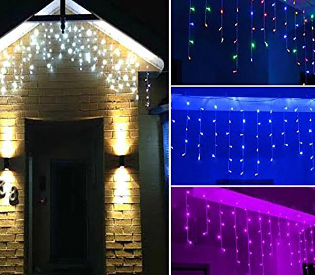 Multi-Color LED Icicle Curtain Wedding Christmas Decoration