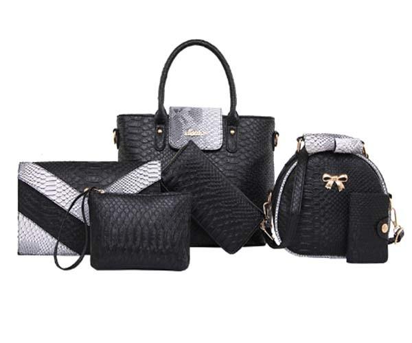 Women 6PCS Set Combos PU Leather Designer Handbags (XM0310)