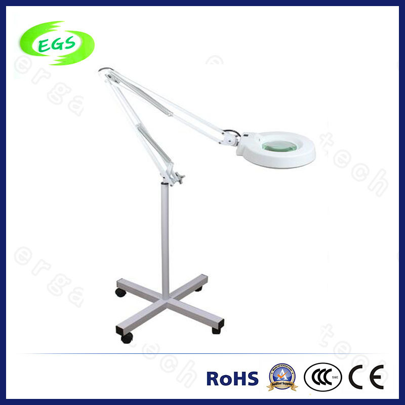 Hot Vertical Type LED Magnifying Lamp with Mobile Pulley Base
