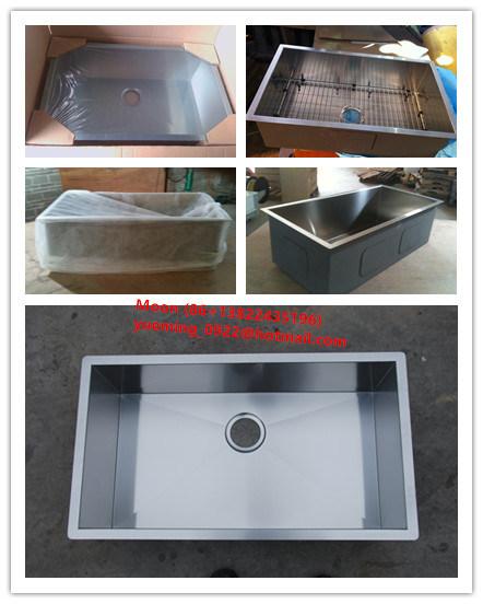 Stainless Steel Handmade Sink, Undermount Single Large Bowl Kitchen Basin Hmss3017