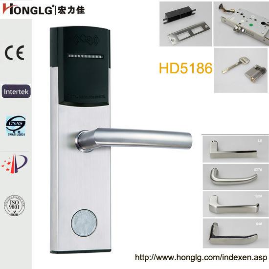 304 Stainless Steel Electronic Smart RF Card Hotel Door Lock (HD5186)