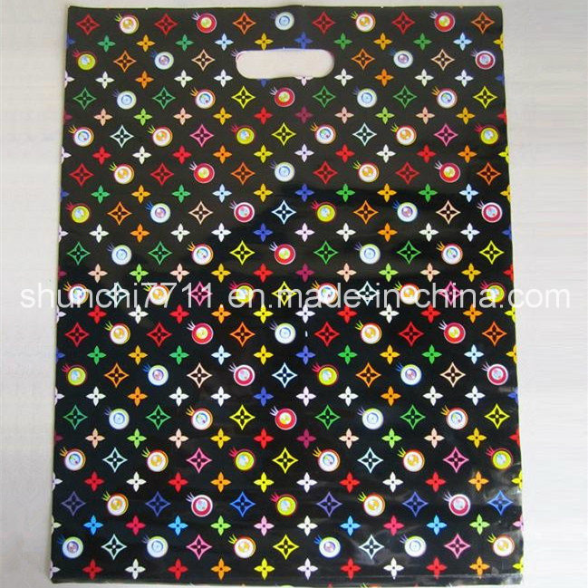Plastic Punching Printing Shopping Bag