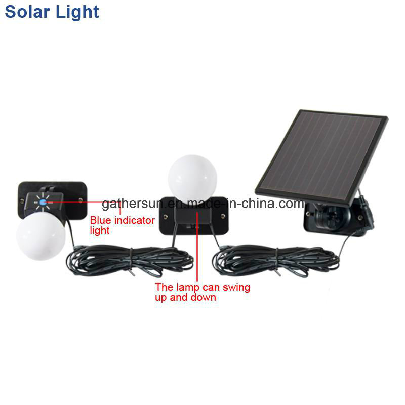 Hight Performance Solar Indoor Light with Laminated Panel 5V 120mA 0.6W