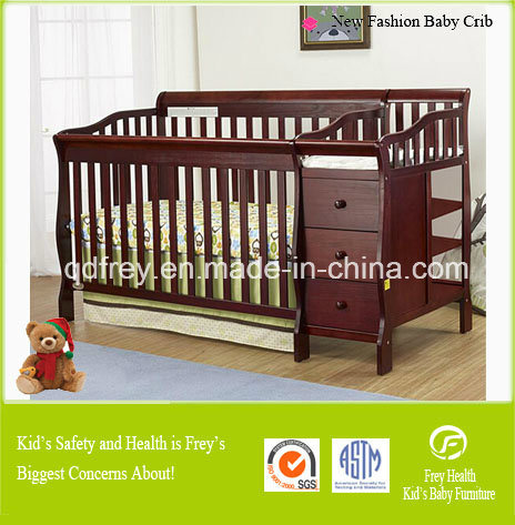 New Design Hot Sale Wooden Cot/Crib/Bed for Baby