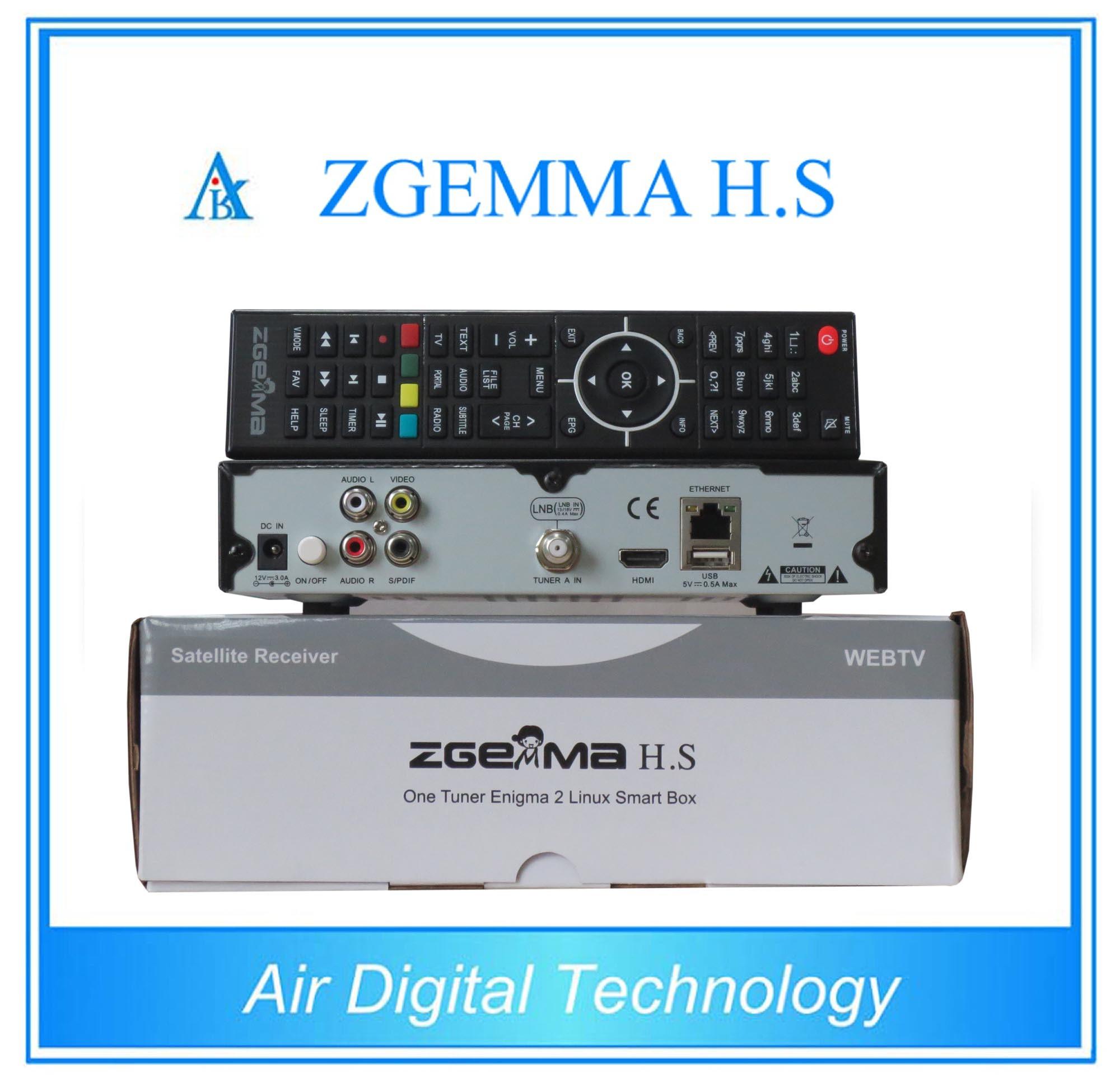2016 New Satellite TV Decoder DVB S/S2 with Dual Core CPU Zgemma H. S