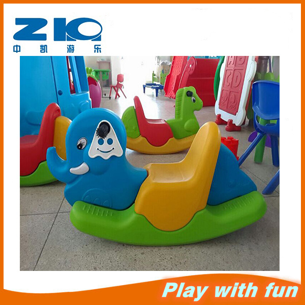 Zhongkai Indoot Playground Plastic Toy Rocking Horse for Baby Manufactor