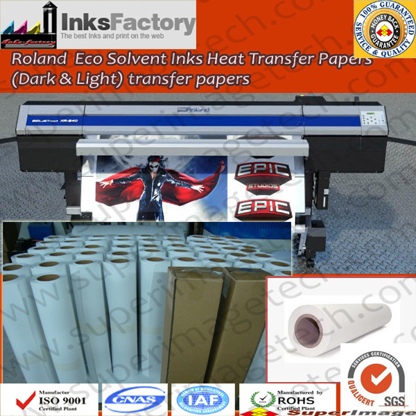 Roland Eco Solvent Ink Heat Transfer Paper Dark and Light