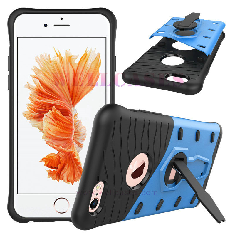 360 Rotation Transformer Anti-Shock Amor Mobile Case with Adjustable Holder