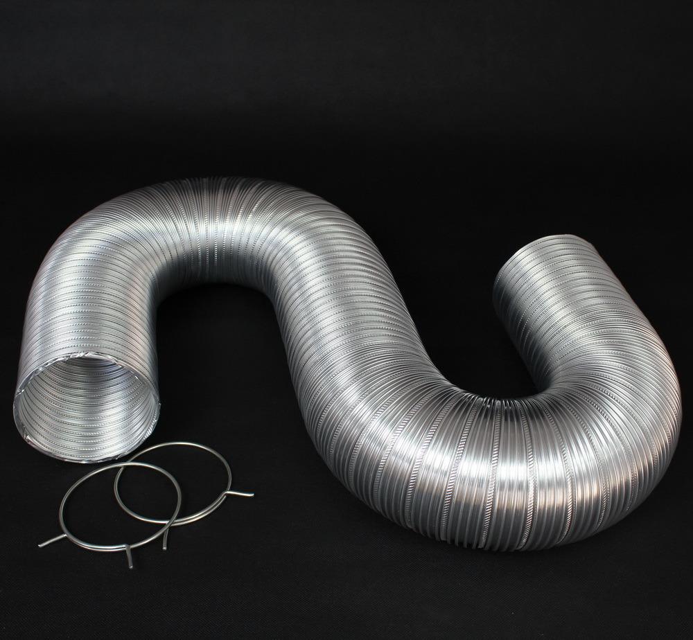 Semi-Rigid Flexible Aluminum Duct with Clamps (4 Screws)