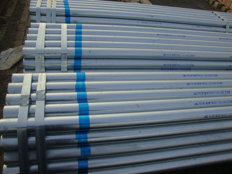 Building Material Q195/Q235 ERW Welded Pre Galvanized Steel Pipe/Tube