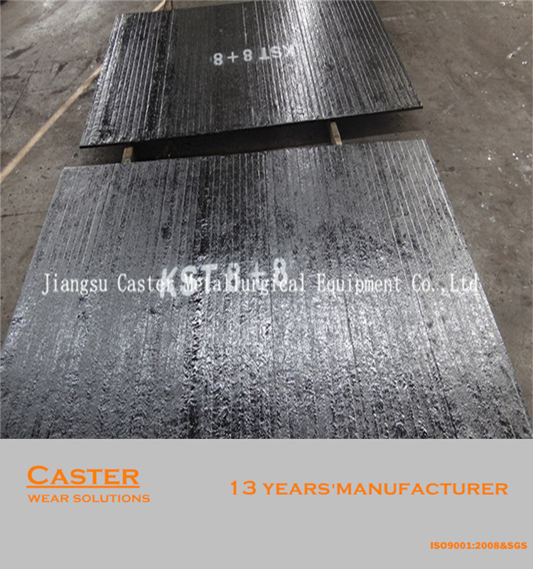 Flexible HRC58-62 8+8 Surfacing Wear Plate for Feeding Chute